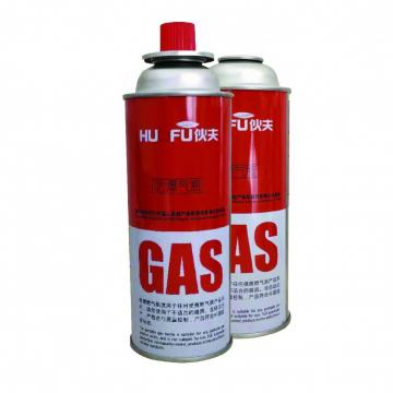 Empty butane gas cartridge and camping gas butane canister refill