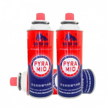 Butane Gas Aerosol Can for portable cartridge