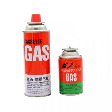 227g Round Shape Portable butane gas cartridge and butane gas canister