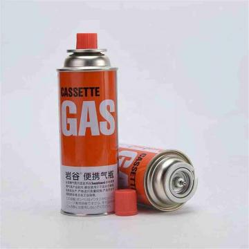 Second hand used refill empty butane gas cartridge canister can cylinder