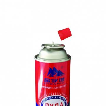 Disposable butane gas cartridge 220g and cast iron aerosol canister for portable gas