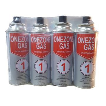 The empty mint tin butane gas canister and mini aerosol butane gas can for portable stove