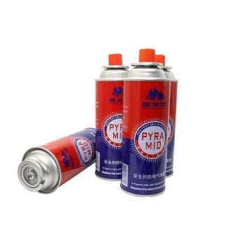 Safety Flame Contro disposable butane gas cartridge 220g and cast iron aerosol canister