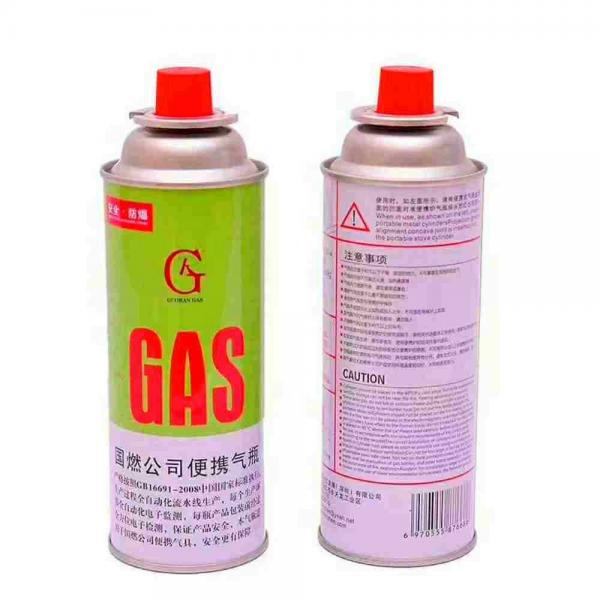 Refill for Portable Stove Straight butane gas can for cassette stove with aerosol valve cap