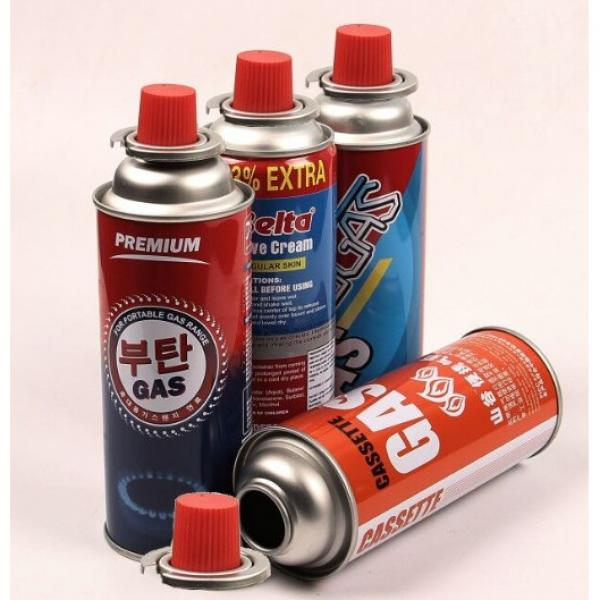 Butane Gas Canister Aerosol Mounting Cup Gas Stove Valves With Actuators