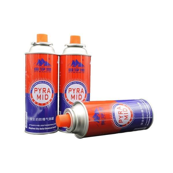 Eco-friendly Screw type butane gas canister in various sizes for camping gas stove