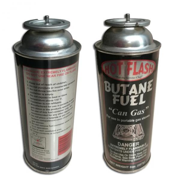 stainless steel material 220gr butane gas cylinder
