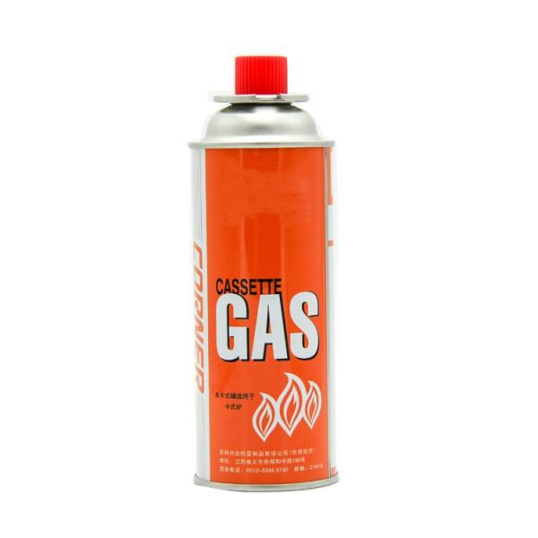 Portable butane gas cooking cylinder for camping